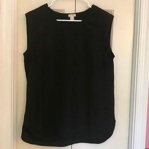 J. Crew Black Sleeveless Blouse Size S NWOT